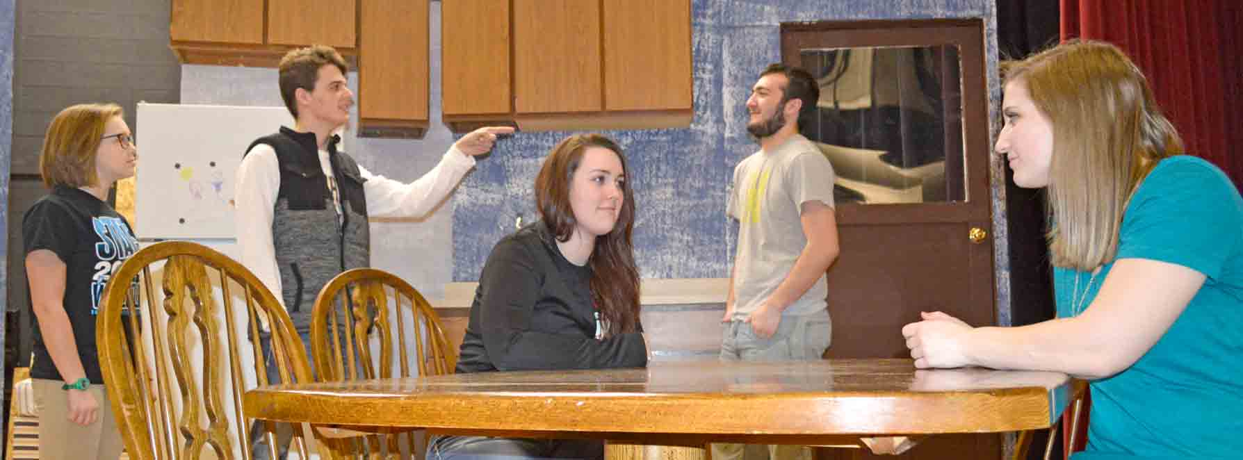 """The talented South Winneshiek High School drama department, under the direction of Glenna Munuswamy and Kurt Straube, will present glimpses of joy, comfort, love, and overwhelming sadness while examining whether a family can survive the loss of a child, in """"Rabbit Hole."""" The..."""